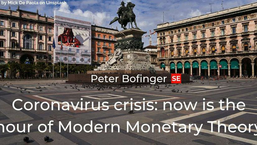 Coronavirus crisis: now is the hour of Modern Monetary Theory